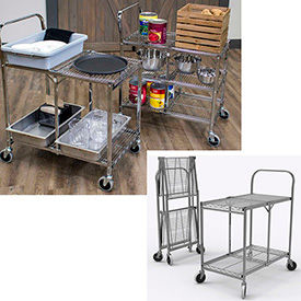 2 and 3 Shelf Collapsible Wire Carts