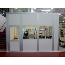 Porta-King Modular Inplant Offices, Class C Fire, STC27 Sound Rated, Vinyl Clad Over Hardboard (Aluminum Frame)