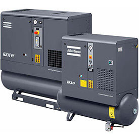 3-Phase Tank Mounted Rotary Screw Air Compressors, Without Dryer