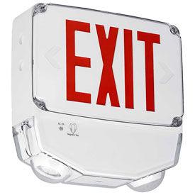 LED Wet Location Combo Exit/Emergency Units