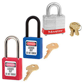 Master Lock® Safety Padlocks Keyed Alike