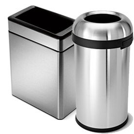 simplehuman® Stainless Steel Waste Cans