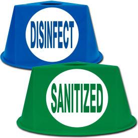 Pallet Control Cones - Sanitized/Disinfect Imprint