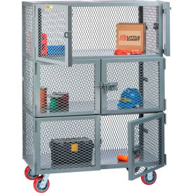 Little Giant® 3 Compartment Mobile Storage Lockers