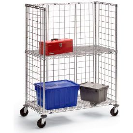 Metro® qwikSLOT™ Wire 3-Sided Shelf Trucks