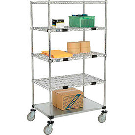 Nexel® Open Sided Wire & Galvanized Shelf Truck