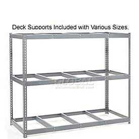 Made in USA - 8'H Boltless Wide Span Metal Storage Rack Without Decking