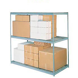 5'H Boltless Wide Span Metal Storage Rack With Wire Deck - Made in USA