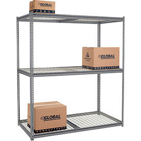 8'H High Capacity (Z-Beam) Boltless Metal Rack With Wire Deck - Made in USA