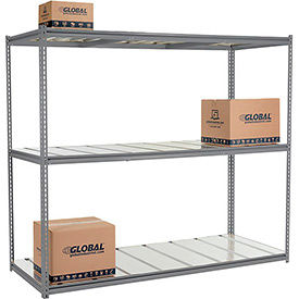 8'H High Capacity (Z-Beam) Boltless Metal Rack With Steel Deck - Made in USA