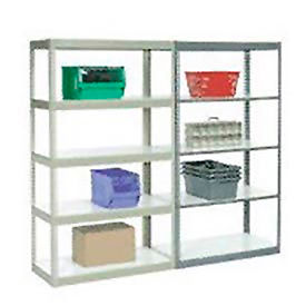 5' High Boltless Steel Shelving With Laminated Shelves - Made in USA