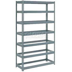 7' High Boltless Steel Shelving Without Decking - Made in USA
