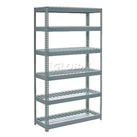 8' High Boltless Steel Shelving With Wire Deck - Made in USA