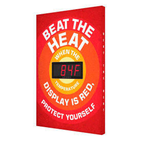 Heat Stress Signs With Temperature Displays
