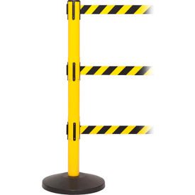 Triple Belt Retractable Belt Barriers