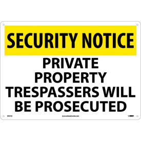 Security Notice Access Signs