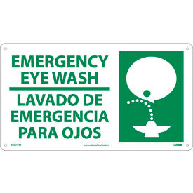 Bilingual Emergency Eyewash Signs