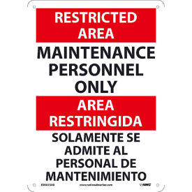 Bilingual Restricted Area Signs