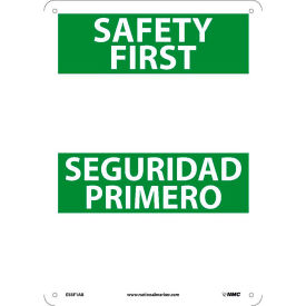 Bilingual Safety First Signs