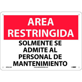 Spanish Restricted Area Signs