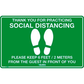 Social Distancing Floor Signs