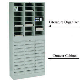 Stackable Steel Drawer Cabinets & Literature Organizer