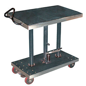 Vestil Stainless Steel Hydraulic Post Lift Tables