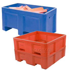Stackable Bulk Containers - 2 Way Fork Entry