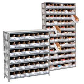 Steel Shelving With Corrugated Shelf Bins