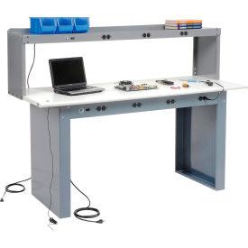Panel Leg Workstation with Power Apron