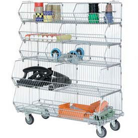Stackable 5-Level Wire Storage Bin Racks