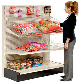 Lozier Gondola - Single Sided - Wall Shelving