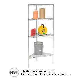 Nexel® Corner (Triangle) Chrome Wire Shelving