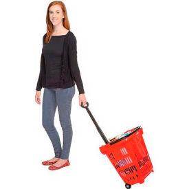 Rolling Plastic Trolley Shopping Baskets