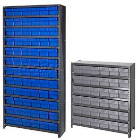 Closed Steel Shelving With Plastic Drawers