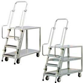 Aluminum Stock Picker, Step Ladder Carts