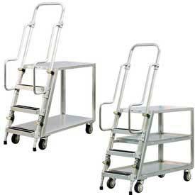 Aluminum Stock Picker, Step Ladder Carts