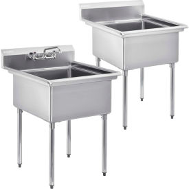 Freestanding One Compartment Stainless Steel Sinks No Drainboards