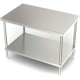 Stainless Steel Adjustable Height Workbench
