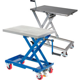 Hand Crank Operated Scissor Lift Carts