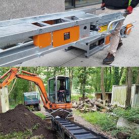LINKUP Portable Modular Dirt & Aggregate Conveyors