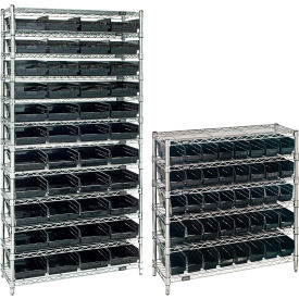 Wire Shelving With Conductive Shelf Bins