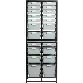 Triple Column Wall Unit with Trays