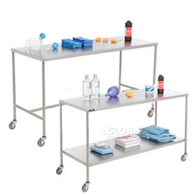 Stainless Steel Mobile Instrument Tables