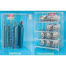 Gas Cylinder Storage Cage - Steel Wire Mesh