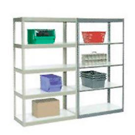 5' High Boltless Steel Shelving With Laminated Shelves