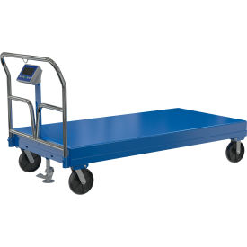 Vestil Steel Deck Platform Trucks with Integral Scale