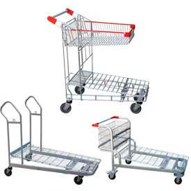 Nestable Wire Shopping Carts