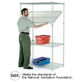 Nexel® Quick-Adjust Poly-Z-Brite Wire Shelving