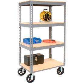 Global Industrial™ Easy Adjust Boltless Wood Shelf Storage Trucks
